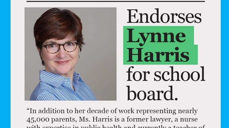 Lynne Harris endorsed by Washington Post editorial board