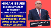 Gov. Larry Hogan overrules Maryland's largest jurisdiction after it issued an order to close private schools.