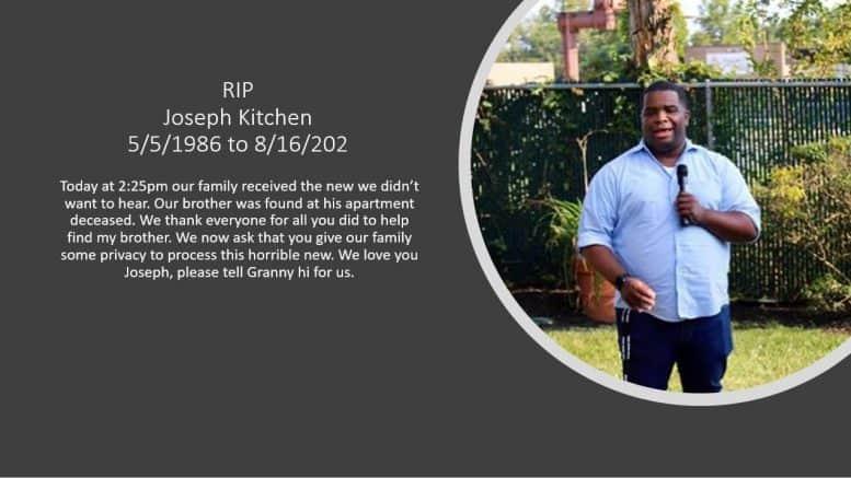 Kitchen Found Dead in Apartment