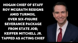 Keiffer Mitchell Jr. taped as new acting chief of staff.