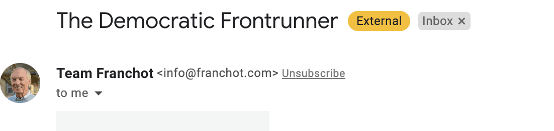 Peter Franchot Democratic frontrunner
